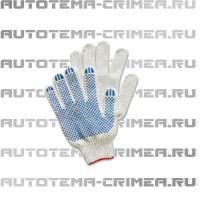 "Per193 перчатки х/б с пвх ""точка"" 5н 10 класс"