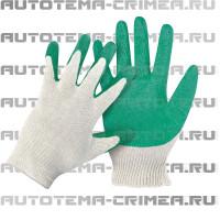 Per022 перчатки х/б с латексом 13 класс